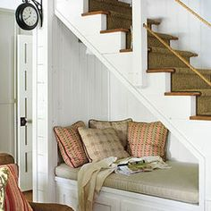 idea for under the basement stairs!