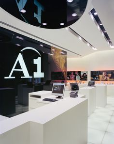 The new A1 #shop concept developed by BEHF Architects relies on excellent #service and flexible #product #presentation methods – Austria-wide, 2005-2014 – Photograph by Bruno Klomfar