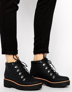 on sale 82494 d5580 ASOS ACTION PACKED Hiker Ankle Boots at asos.com