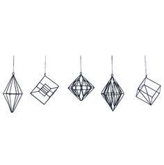geometrische hangers zwart house doctor