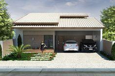 Casa para terreno de 10 por 20 metros - Projetos de Casas - Modelos de Casas