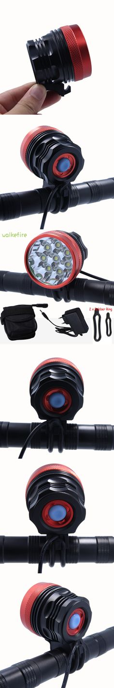 Walkfire 12000lumen 8x XML T6 LED Flashlight Bike Light Lamp Cycling Headlight Bicycle Accessories +Rechargeable Battery Pack
