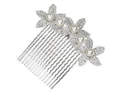 Pearl and Crystal Flower Bridal Comb *** To view further for this article, visit the image link. #HairJewellery