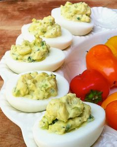 Yummy & perfect for a picnic or a Meatless Monday: Jalapeño Deviled Eggs!