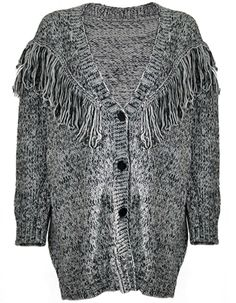 KNITTED CARDIGAN FRINGES - www.yourownstylist.com