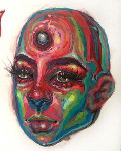 Art Sketches, Art Drawings, Art Et Design, Posca Art, Arte Sketchbook, Hippie Art, Wow Art, Art Hoe, Psychedelic Art
