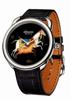 In a cavalcade of motifs inspired by one of the iconic service sets by the Maison Hermès, Arceau Cheval d'Orient highlights the art of French lacquer through three horological compositions Latest Watches, Cool Watches, Watches For Men, Fine Watches, Equestrian Jewelry, Horse Jewelry, Equestrian Fashion, Equestrian Style, Audemars Piguet