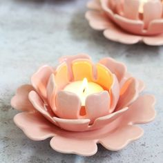 The Contemporary Home Pink Lotus Flower Tea Light Holder ($15) ❤ liked on Polyvore featuring home, home decor, candles & candleholders, pink, ceramic tea light holders, lotus flower tealight holder, contemporary home accessories, lotus tea light holder and pink home decor