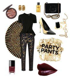 """#PolyPresents: Fancy Pants"" by emmetu on Polyvore featuring Aurélie Bidermann, Balmain, Givenchy, MaxMara, Karl Lagerfeld, Bloomingdale's, Yves Saint Laurent, Heidi Swapp, Barneys New York and contestentry"