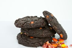 Chocolate Bacon Peanut Butter Cookies  Available at Baconery www.baconery.com