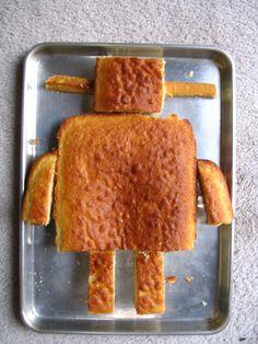 robot birthday cake | Instrucable Robot Cake