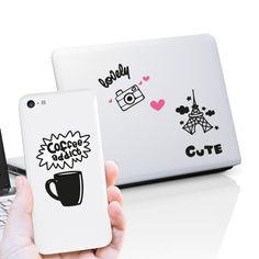 Kit de vinilos decorativos muy cuquis para colocar en tu tablet, portatil, smartphone o donde más te guste.