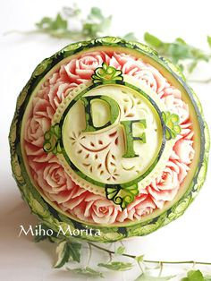 #fruit carving #watermelon Watermelon Art More Pins Like This At FOSTERGINGER @ Pinterest