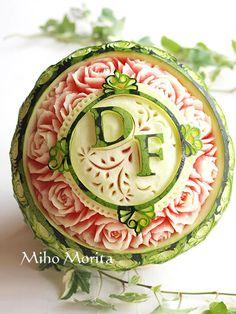 #fruit carving #watermelon
