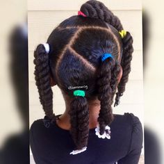 Kids Hairstyles - Easy protective style twists for kids Black Kids Hairstyles, Cute Little Girl Hairstyles, Little Girl Braids, Baby Girl Hairstyles, Natural Hairstyles For Kids, Kids Braided Hairstyles, Princess Hairstyles, Braids For Kids, Girls Braids