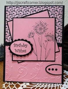 Birthday Wishes Cool design off set blocks/ matting