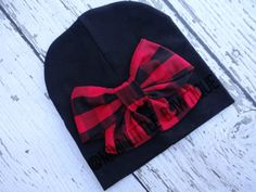 Hey, I found this really awesome Etsy listing at https://www.etsy.com/listing/255568371/black-beanie-with-red-and-black-buffalo