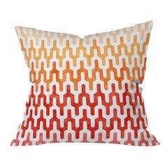 Arcturus Warm 1 Throw Pillow, red orange gradient