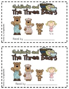 The 3 Bears emergent reader