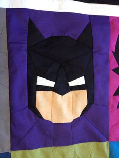 BATMAN Pattern SUPERHERO QUILT by wolftlou on Etsy, $6.20