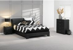 With a sleek, modern design, the Monroe 4 piece Queen tall chest suite will contemporise any bedroom. Comprising the Monroe Queen bed (measuring Monroe 4 drawer tall chest (measuring and two Monroe 2 drawer b Queen Bedroom Suite, King Bedroom, Bedroom Sets, Dream Bedroom, Bedrooms, Cheap Bedroom Furniture, Furniture Sale, Bedroom Wall Cupboards, French Style Sofa