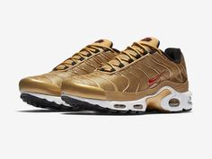 "Nike Air Max Plus and Air Max Jewell ""Metallic Gold"""