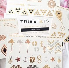 Temporary Metallic Tattoos -  TribeTats offer four sheets of premium metallic tattoos in gold, silver, rose gold and black. Tattoos are perforated for easy separation and application. ($28 at time of post) / Andrew, Project Fellowship