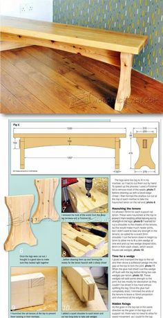 Softwood Bench Plans - Furniture Plans & Projects | WoodArchivist.com