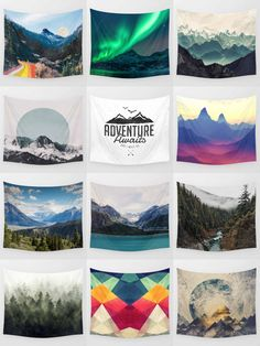 Society6 Mountain Tapestries - Society6 is home to hundreds of thousands of artists from around the globe, uploading and selling their original works as 30+ premium consumer goods from Art Prints to Throw Blankets. They create, we produce and fulfill, and every purchase pays an artist.