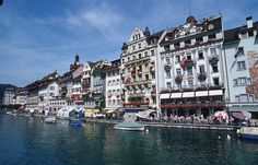 Lucerne, Switzerland.  Hotel Alpes, where stayed for our 29 year anniversary.  A beautiful town!