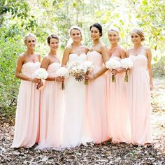 Floor Length Chiffon Bridesmaid Dresses pst0239 – BBtrending