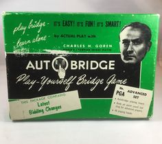 Auto Bridge By Charles H Goren Mid Century Complate Game Learn Bridge Manufactured Late