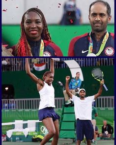 #Congratulation Venus Williams tied with most Olympic medals with her silver medal in mixed doubles tennis #VenusWilliams and #RajeevRam #win #silver #medal #mixeddoubles #VenusWilliams #Tennis #Athlete #BlackGirlMagic #BlackGirlsRock #TeamUSA #USA #Rio2016 #Olympics #OlympicGames #Sports #Athletes #5medals # #tennis #olympics #olympics2016