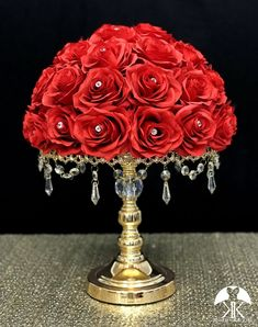 RED Rose Arrangement with PREMIUM Real Touch Silk Roses and RHINESTONE GEMS. Red Wedding Centerpiece. Red Centerpiece. Floating Pomander. PICK ROSE COLOR! 16 SIZE PICTURED With RHINESTONE GEMS IN Roses. GOLD STANDS With CRYSTALS Sold Separately.  These beautiful roses have a real feel and look to Rosen Arrangements, Red Rose Arrangements, Aqua Wedding, Bling Wedding, Rose Wedding, Silk Roses, Red Roses, Red Wedding Centerpieces, Crown Centerpiece