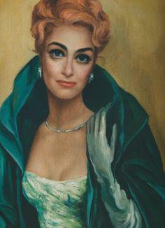 Portrait of Joan Crawford by big-eye artist Margaret Keane