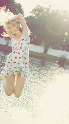 Spontaneous jump in the sun.