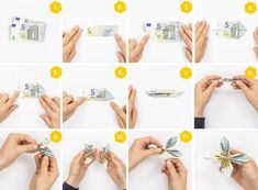 Folding banknotes »10 folding techniques explained step by step + Video  #banknotes #explained #folding #techniques #video