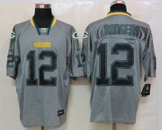 f37948d47 New Nike Green Bay Packers 12 Rodgers Lights Out Grey Elite Jerseycheap nfl  jerseys
