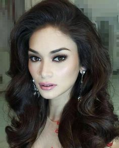 Pia Alonzo Wurtzbach, Miss Universe From the Philippines Miss World, Nevada, Competition Makeup, Beautiful Girl Image, Beautiful Eyes, Beautiful People, Hot Hair Styles, Asian Hair, Glam Makeup