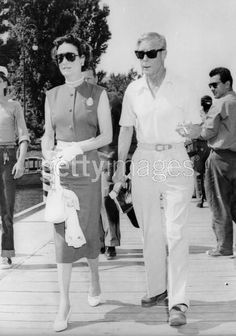 "Edward Prince of Wales ""David"" & Wallis Simpson, later Duke & Dutchess of Windsor, 3 Sept 56'. International Film Festival."