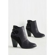 Minimal Discoteque a Look at Me Now Bootie ($50) ❤ liked on Polyvore featuring shoes, boots, ankle booties, ankle strap boots, short boots, strappy boots, strap boots and black booties