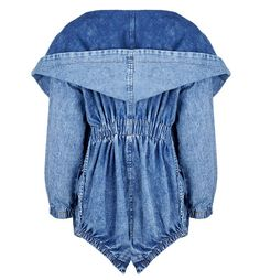 Buy Strech Waist Oversize Hood Denim Parka at Style Moi