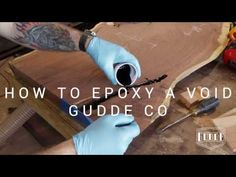 AMAZING Way To Fill A Void In Wood - SO EASY Anyone Can Do It - YouTube