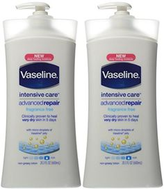 Vaseline Intensive Care Advanced Repair Lotion Fragrance Free 203Ounce Pump Pack of 2 * You can find out more details at the link of the image.