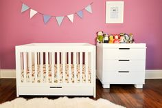Mercer 3-in-1 Convertible Crib with Toddler Rail | Babyletto