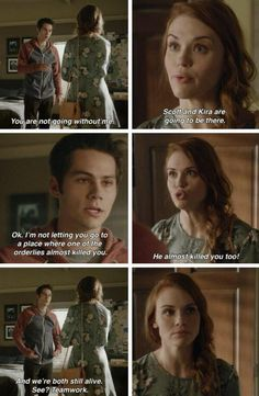 "#TeenWolf Season 5 Episode 5 ""A Novel Approach"" Stiles Stilinski and Lydia Martin"