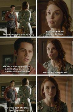 "#TeenWolf Season 5 Episode 5 ""A Novel Approach"" Stiles Stilinski and Lydia Martin"