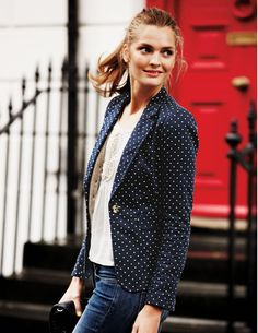 Love this--Like that it's all cotton and washable! An all-cotton, machine washable blazer? Yes, please! Blenheim Blazer from Bodenusa.com