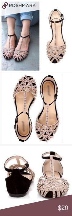 FLASH SALENWOT Studded Cage Flat Sandals See picture for descriptions Shoes Sandals