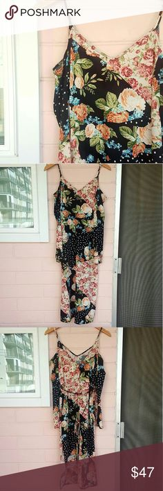 SIZE 4 TOPSHOP FLORAL MIDI *floral midi off-shoulder dress *size 4 *brand new with tags *adorable patchwork design  *comes from a smoke-FREE & pet-FREE home Topshop Dresses Midi